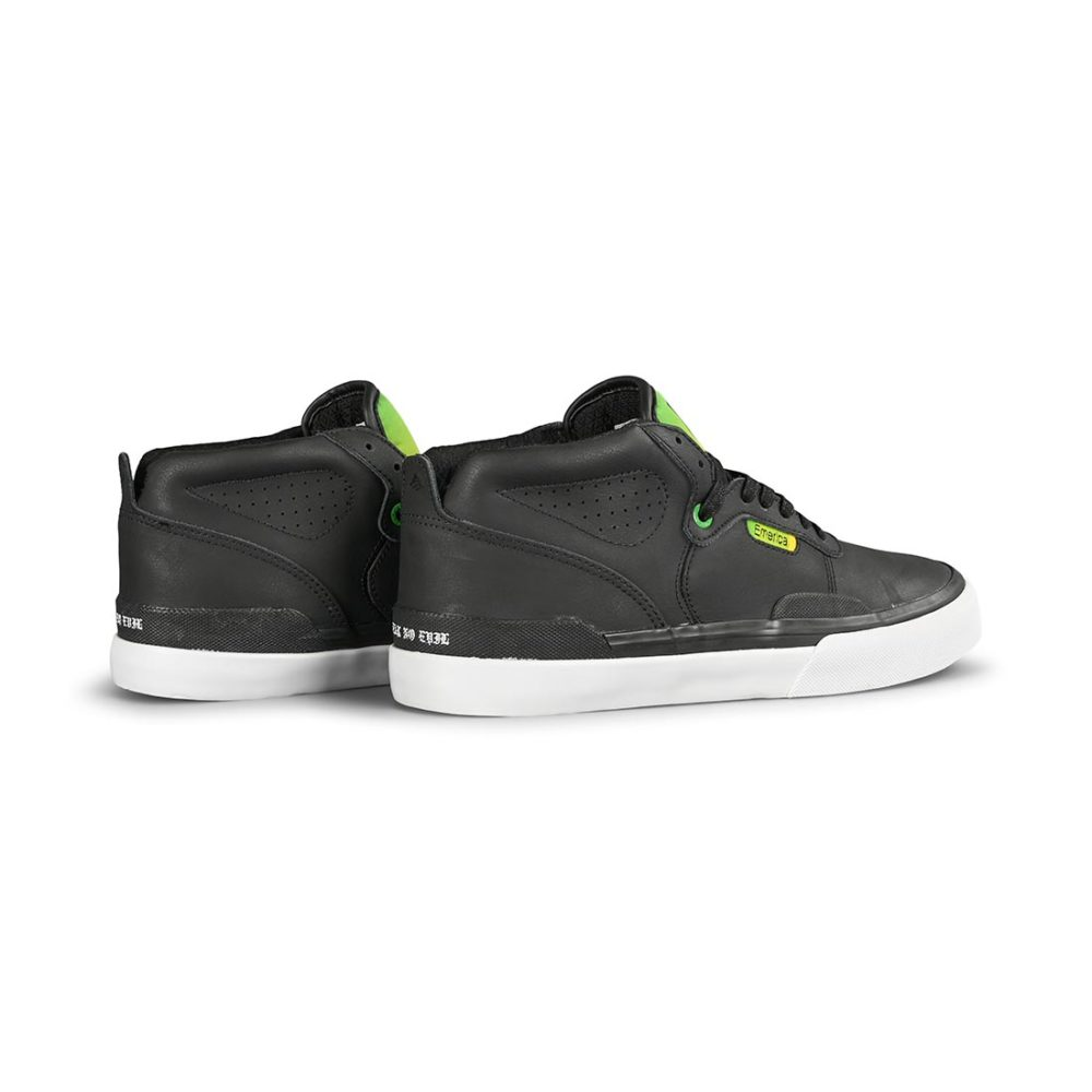 Emerica x Creature Skateboards Pillar Mid-Top Skate Shoes - Black