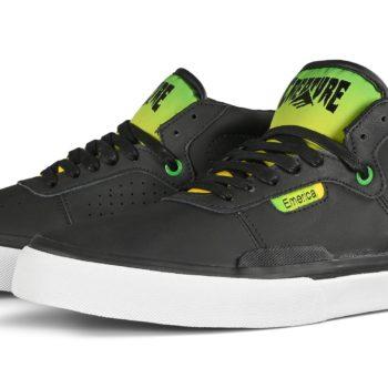 Emerica x Creature Skateboards Pillar Mid-Top Skate Shoes - Black