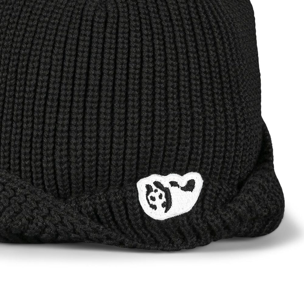 Enjoi Reverse Folded Cuff Beanie Hat - Black