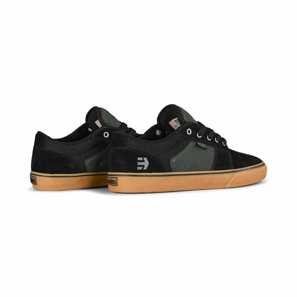 Etnies Barge LS Skate Shoes - Black / Green / Gum