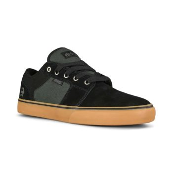 Etnies Barge LS Skate Shoes - Black / Green / Gum