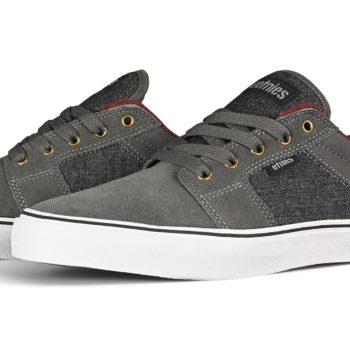 Etnies Barge LS Skate Shoes - Grey / Black / Gold