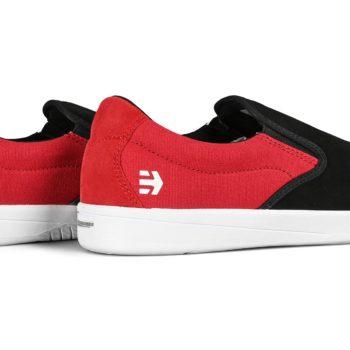 Etnies Veer Slip-On Skate Shoes - Black / Red