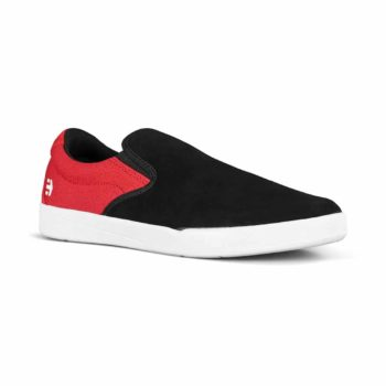 Etnies Veer Slip-On Skate Shoes - Black / Red