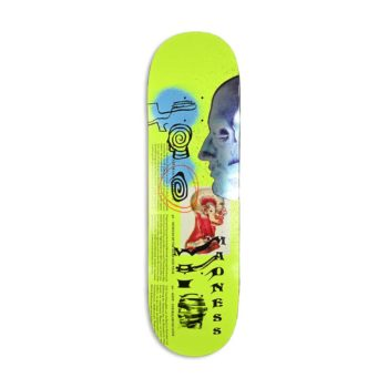 """Madness Skinned R7 8.75"""" Skateboard Deck - Neon Yellow"""