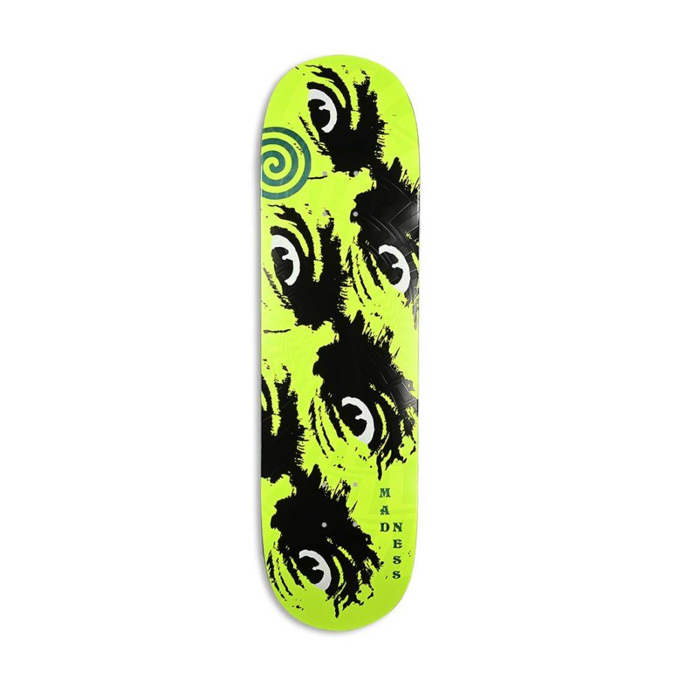 "Madness Side Eye R7 8.75"" Skateboard Deck - Neon Yellow"