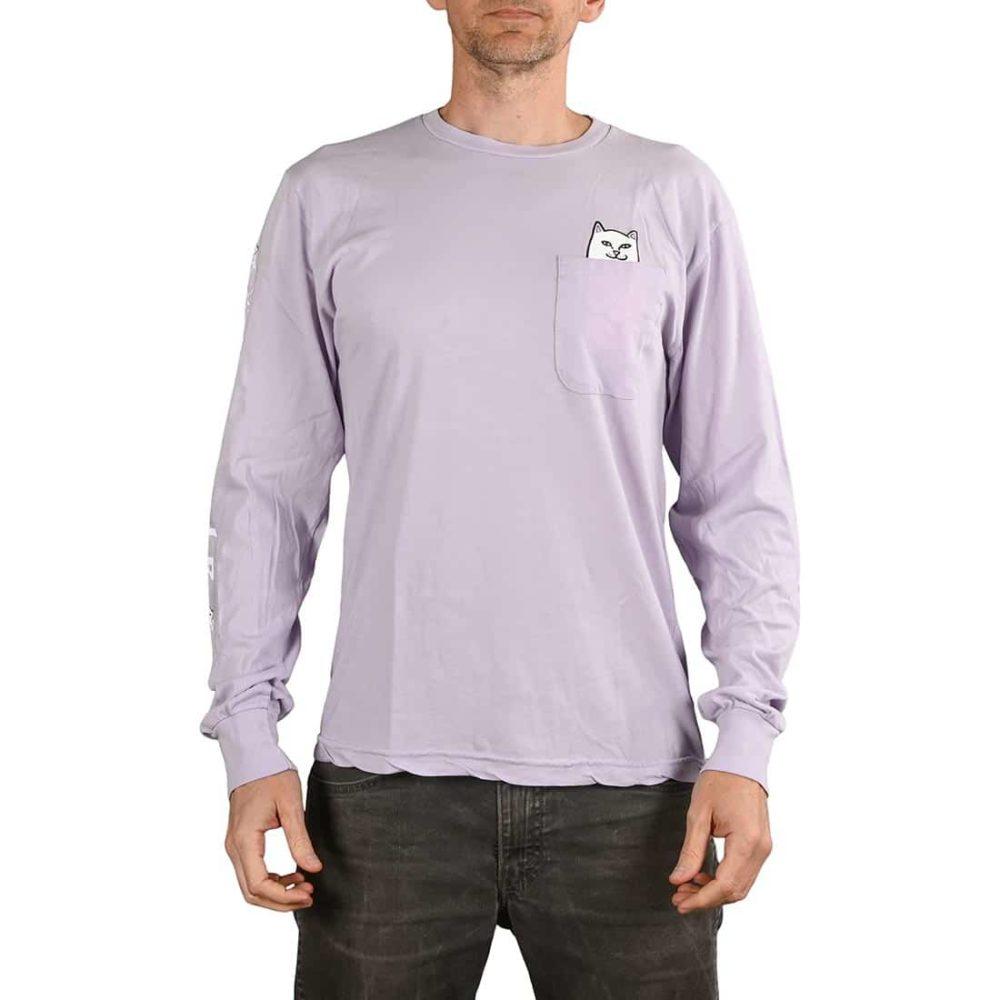 RIPNDIP Lord Nermal L/S Pocket T-Shirt - Lavender