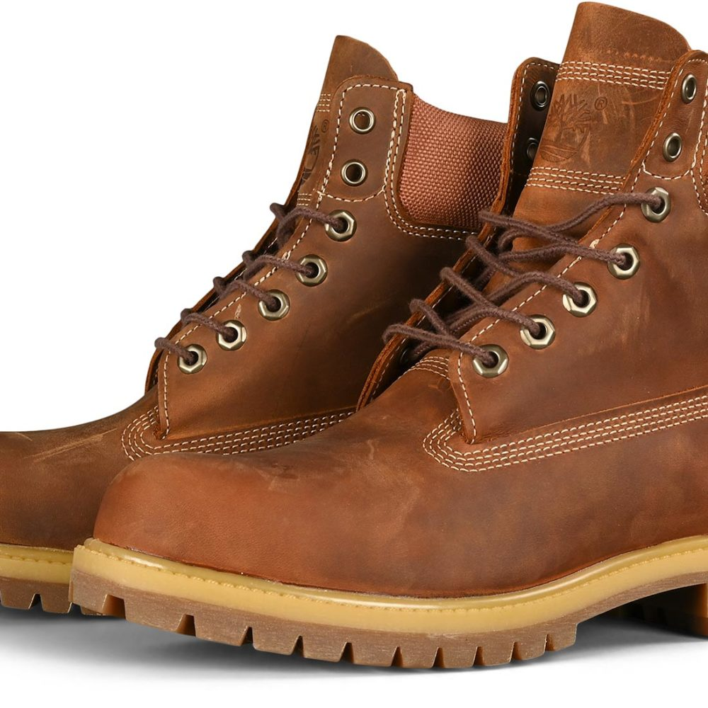 Timberland 6 Inch Premium Boot - Rust Full Grain