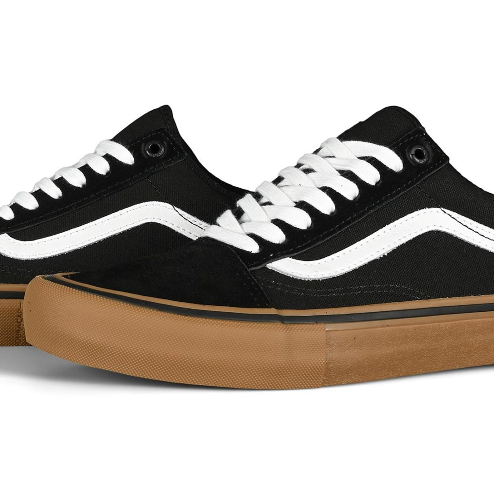 Vans Old Skool Pro Skate Shoes - Black / White / Medium Gum