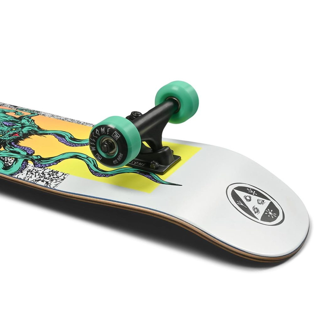 """Welcome Bactocat On Bunyip 8"""" Complete Skateboard - White"""