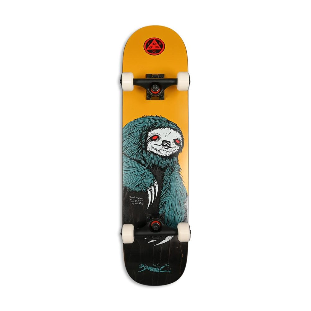 """Welcome Sloth On Scaled Down Bunyip 7.75"""" Complete Skateboard"""