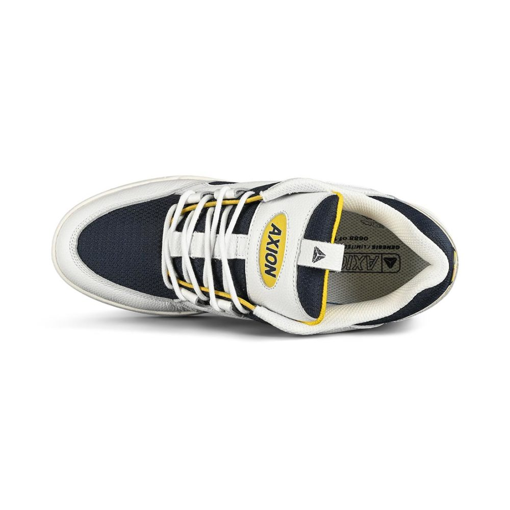 Axion Genesis Skate Shoes - White / Navy / Yellow