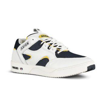 Axion Genesis Skate Shoes - White / Navy / Yellow
