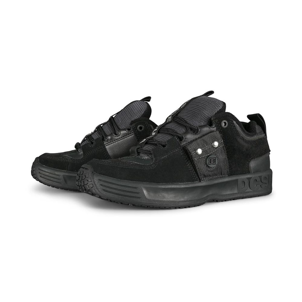 DC Lynx OG JS Skate Shoes - Black / Black / Battleship