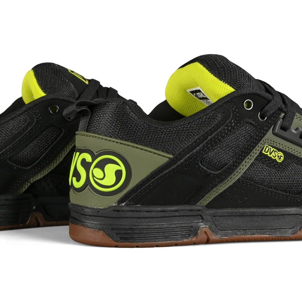 DVS Comanche Skate Shoes - Black / Olive / Gum Nubuck