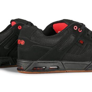 DVS Enduro Heir Skate Shoes - Black / Red / Gum