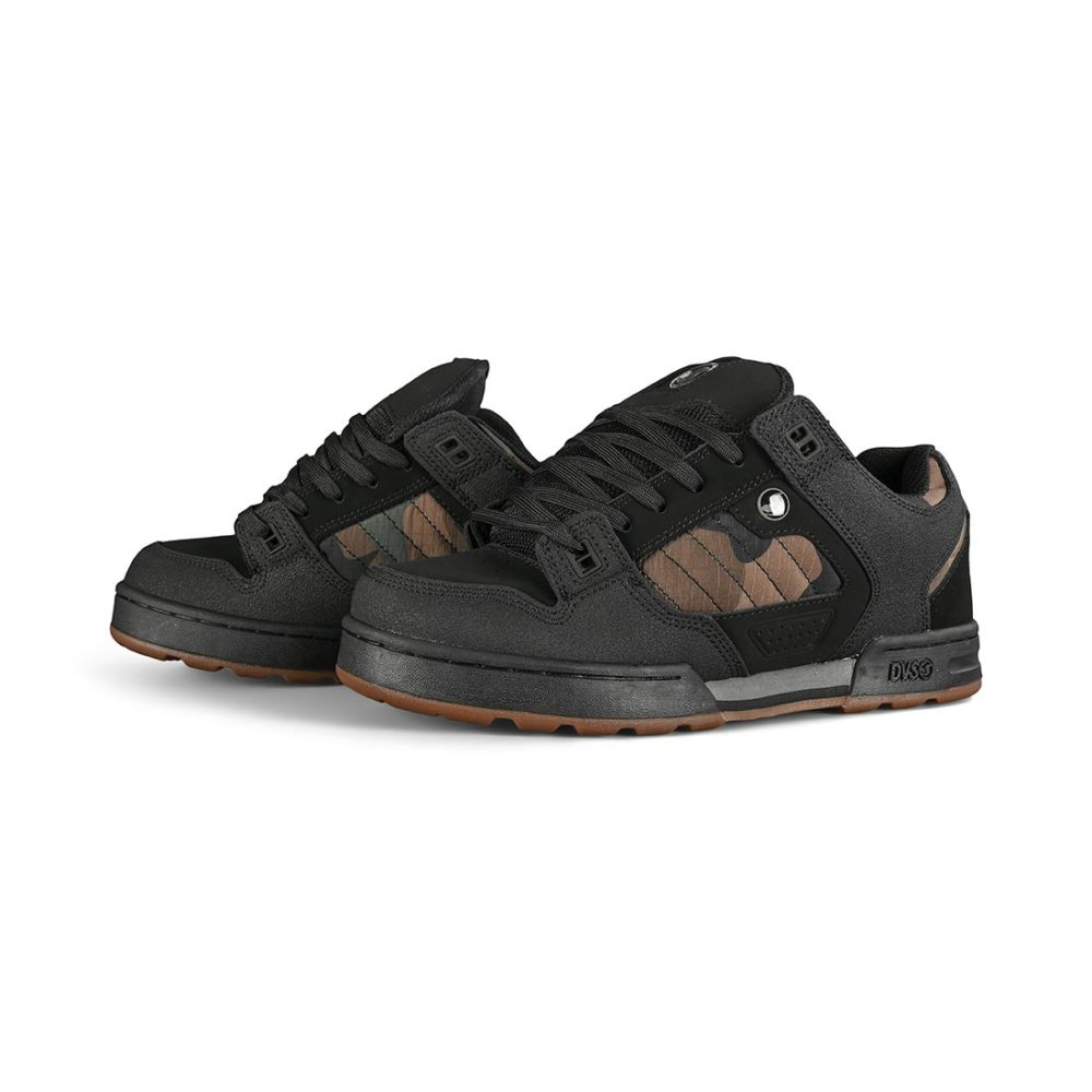 DVS Militia Snow Shoes - Black / Camo Leather
