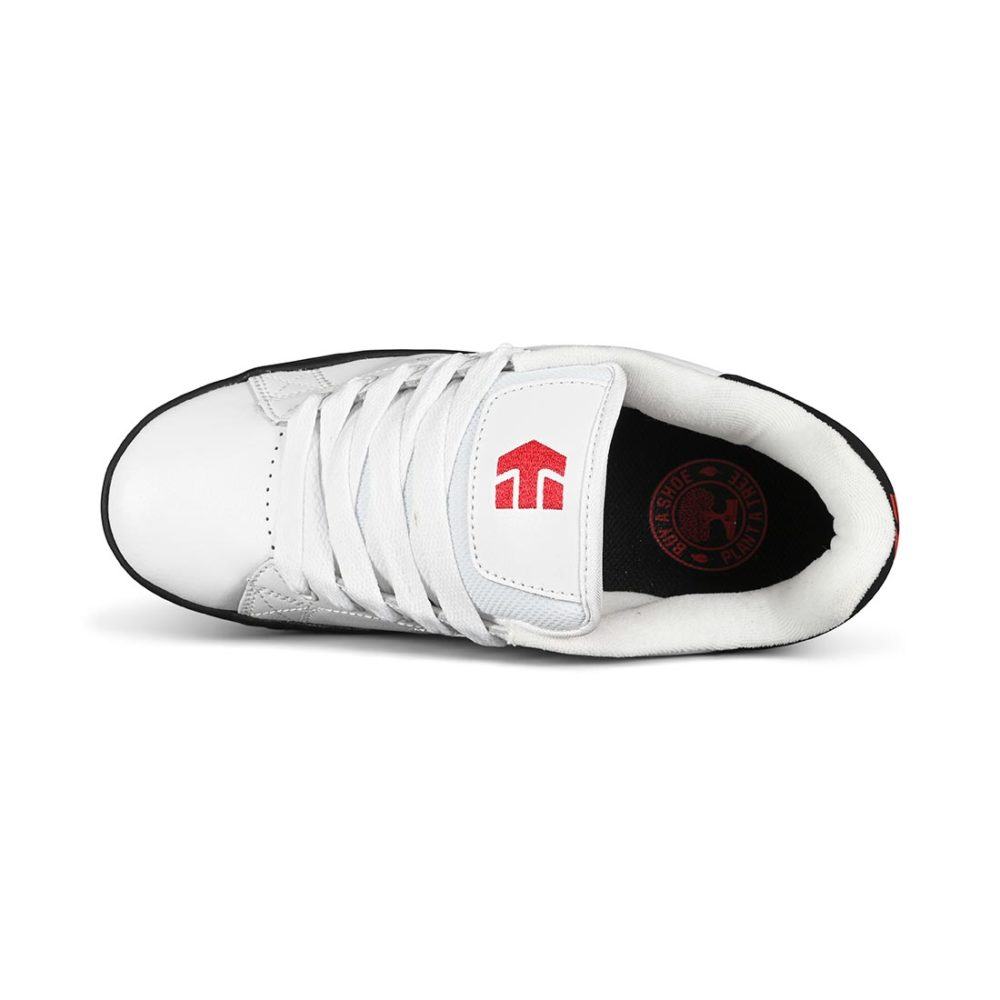 Etnies Calli-Cut Skate Shoes - White / Black / Red