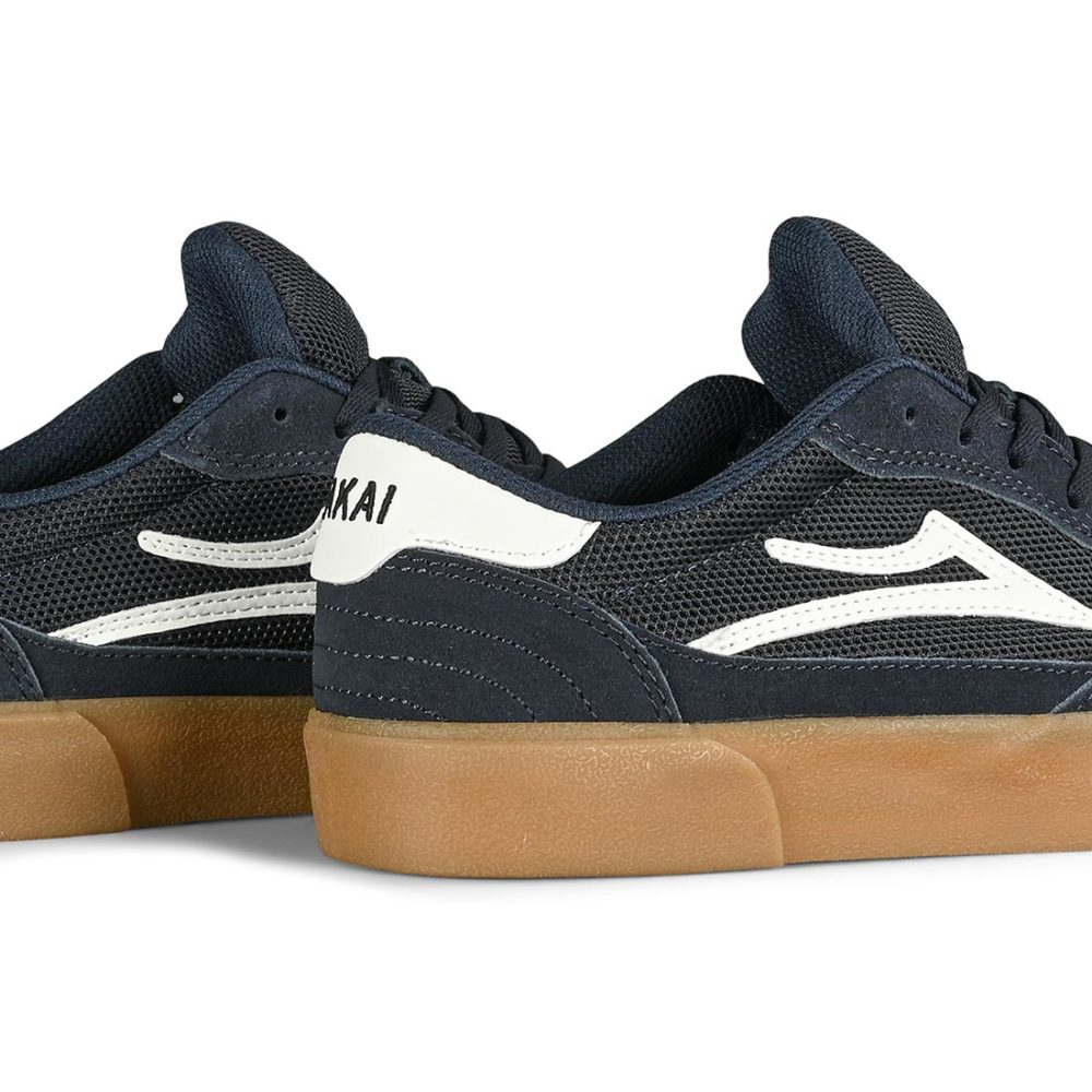 Lakai Cambridge Skate Shoes - Navy / White