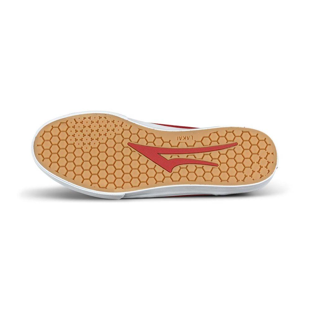 Lakai Manchester Skate Shoes - Black / Red