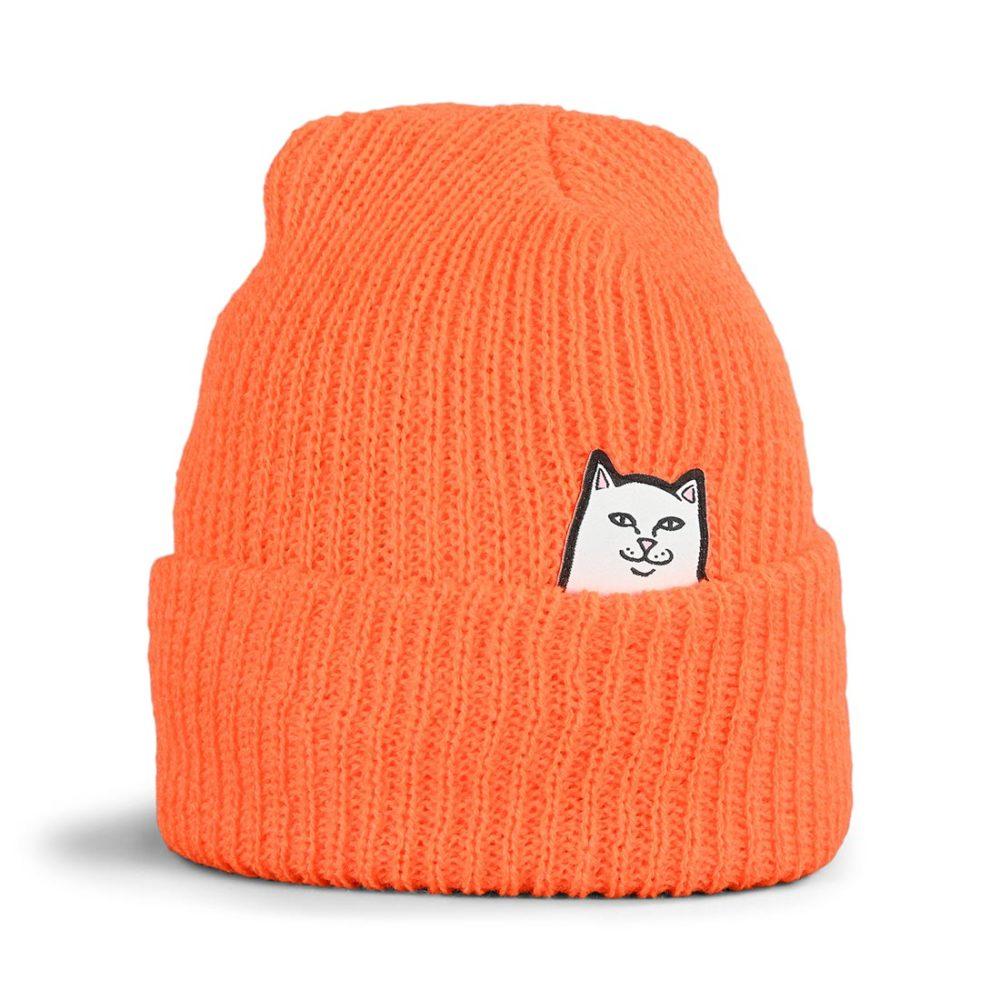 RIPNDIP Lord Nermal Rib Beanie Hat - Orange