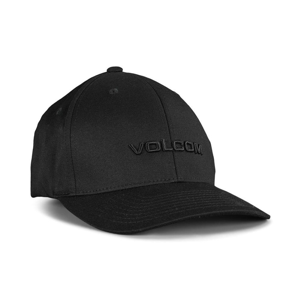 Volcom Euro XFit Flexfit Cap - Black / Black