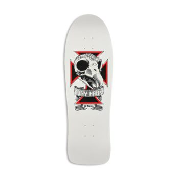 "Birdhouse Hawk Skull Old School 10.25"" Skateboard Deck - White"