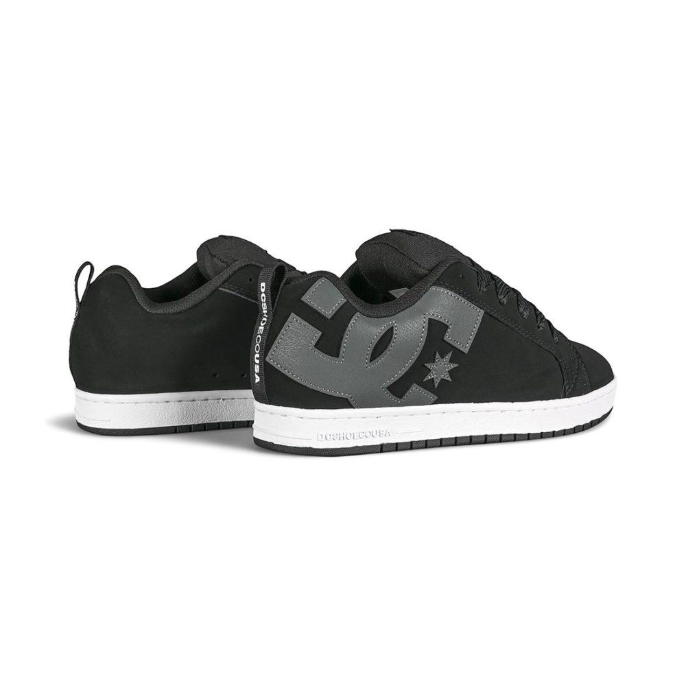 DC Court Graffik Skate Shoes - Black / Grey / White