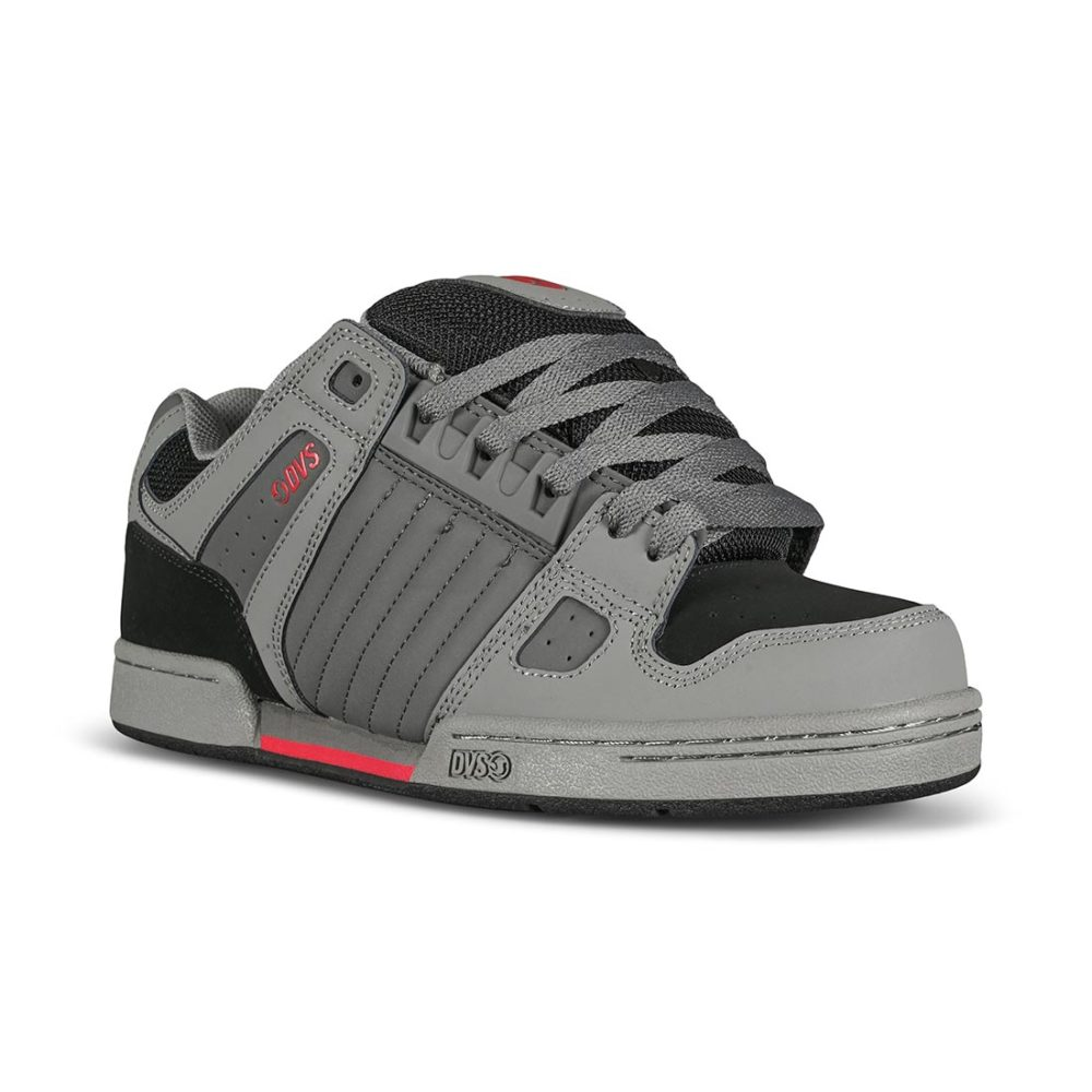 DVS Celsius Skate Shoes - Charcoal / Grey / Red