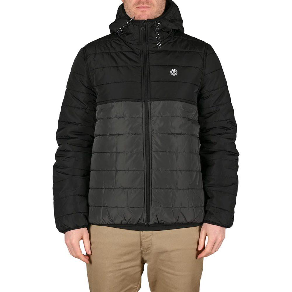 Element Alder Puff Fundamental Jacket - Asphalt Black