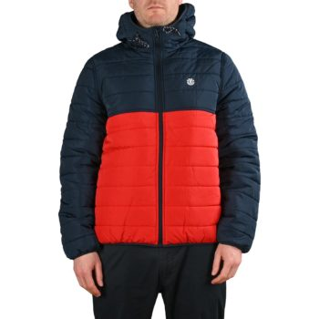 Element Alder Puff Fundamental Jacket - Fire Red