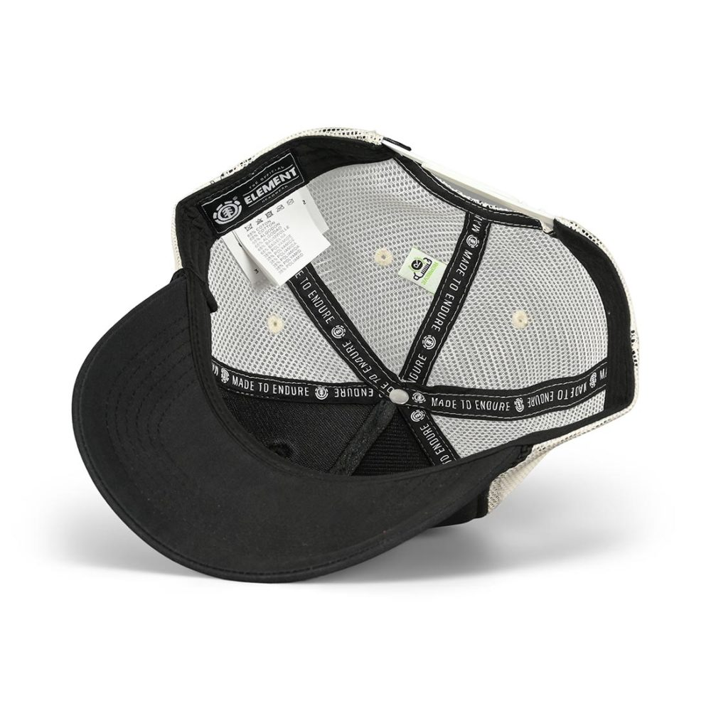 Element Bark Trucker Cap - Flint Black
