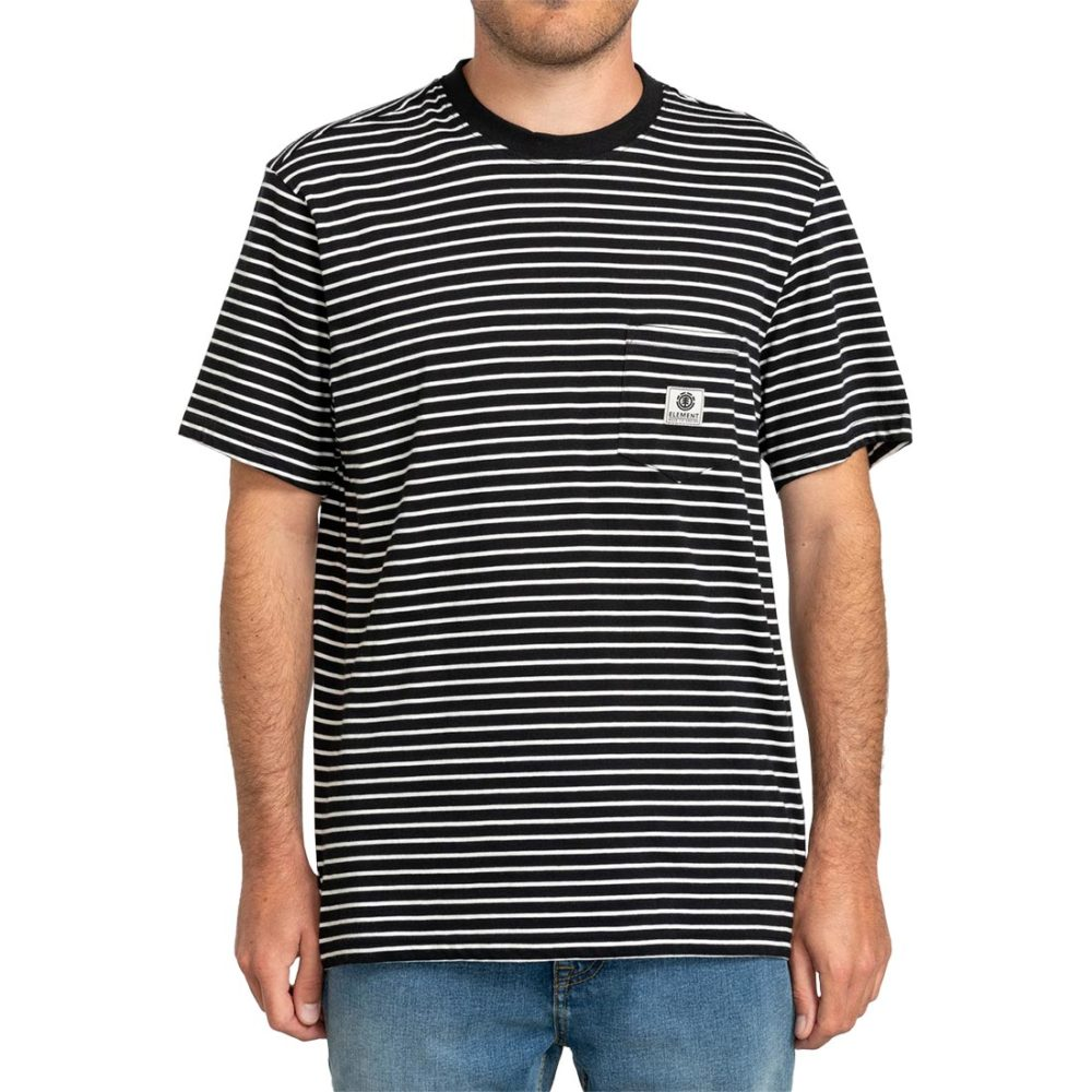 Element Basic Stripes S/S T-Shirt - Flint Black