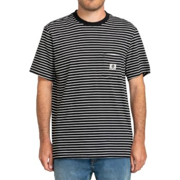 Element Basic Stripes S/S T-Shirt - Flint Black