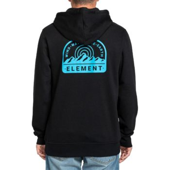 Element Stahl Pullover Hoodie - Flint Black