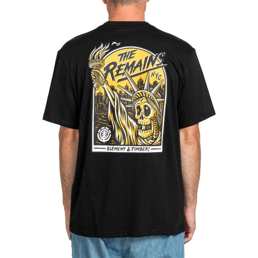 Element x Timber The Remains Liberty S/S T-Shirt - Flint Black
