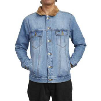 RVCA Daggers Denim Sherpa Jacket - Vintage Indigo