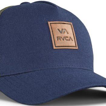 RVCA VA All The Way Curved Trucker Cap - Navy / Green