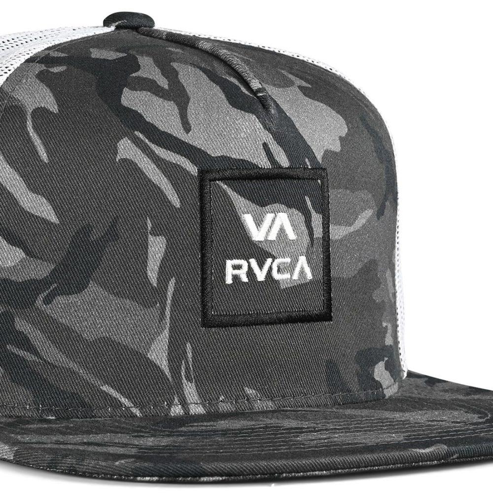 RVCA VA All The Way Trucker Cap - Black Camo