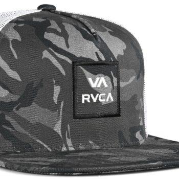 RVCA VA All The Way Trucker Cap - Black Camo
