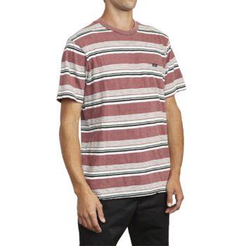 RVCA Ventura Stripe S/S T-Shirt - Merlot