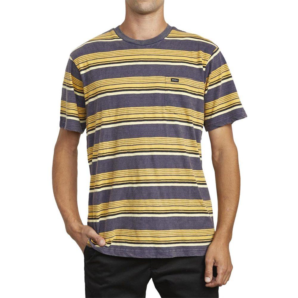 RVCA Ventura Stripe S/S T-Shirt - Moody Blue