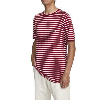 RVCA x Baker Stripe S/S T-Shirt - Bright Red