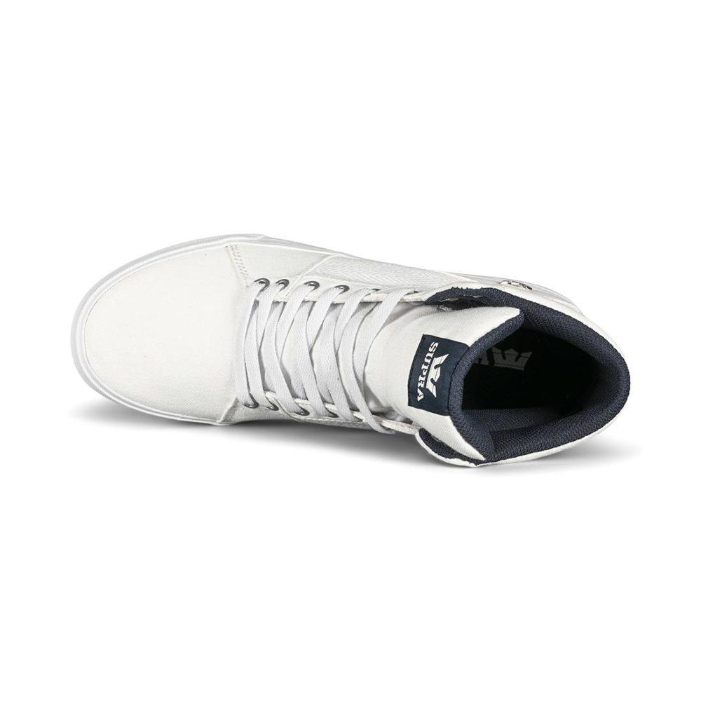 Supra Aluminum High-Top Shoes - White / White