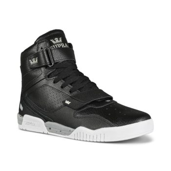 Supra Breaker High-Top Shoes - Black / Lt Grey / White