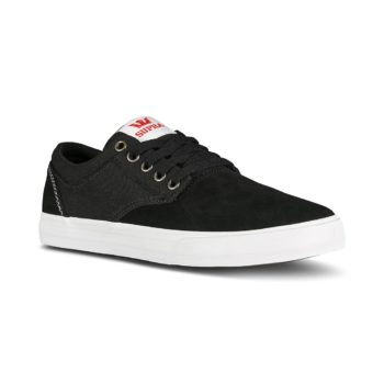Supra Chino Skate Shoes - Black / Red / White