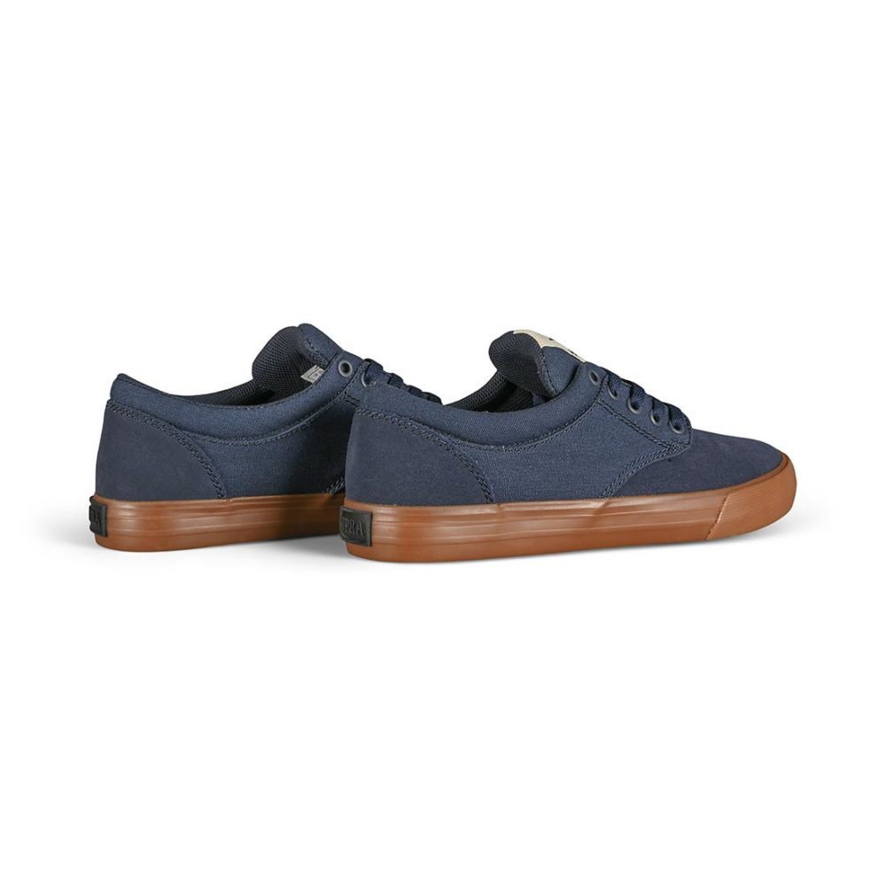 Supra Chino Skate Shoes - Navy / Bone / Gum
