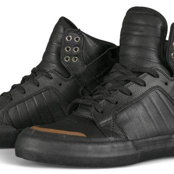 Supra Skytop 77 High-Top Shoes - Black / Black / Gum