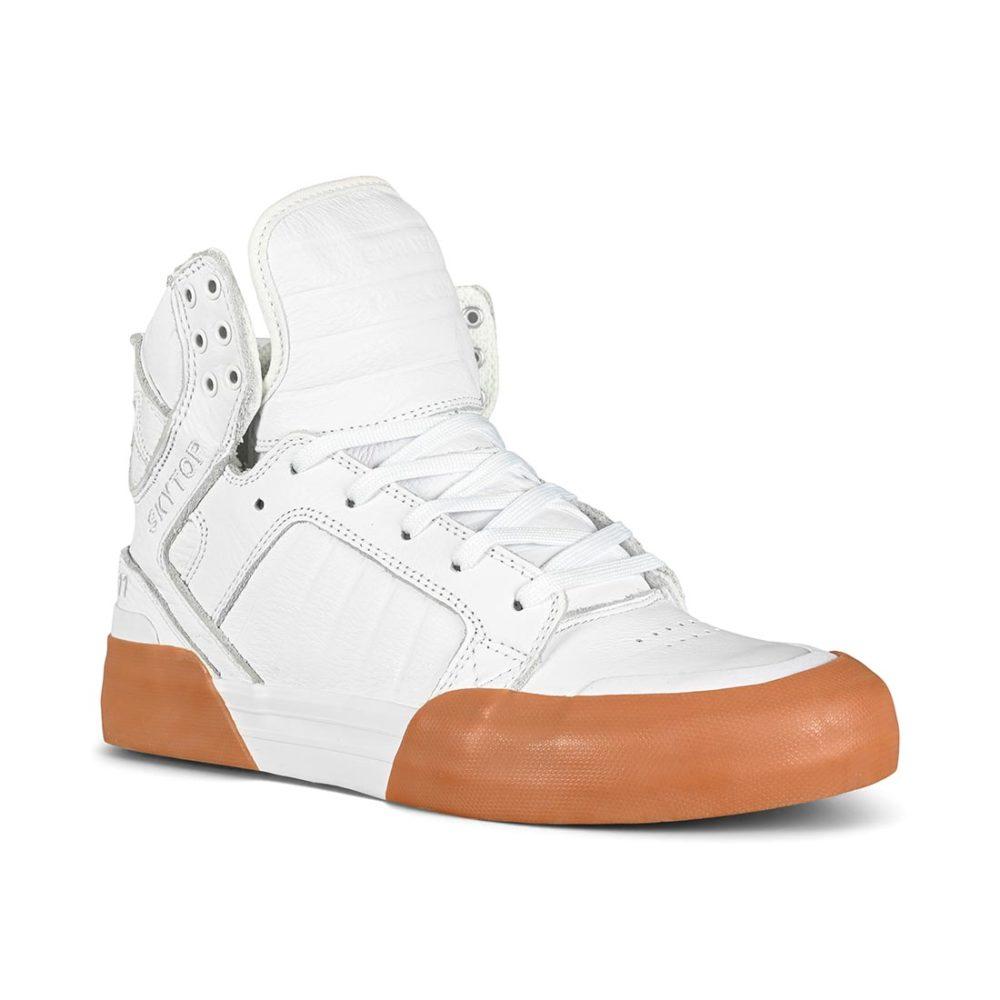 Supra Skytop 77 High-Top Shoes - White / Gum