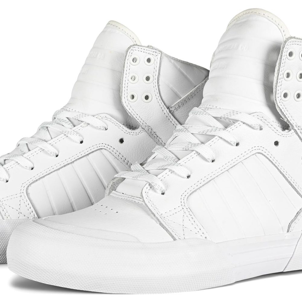 Supra Skytop 77 High-Top Shoes - White / White